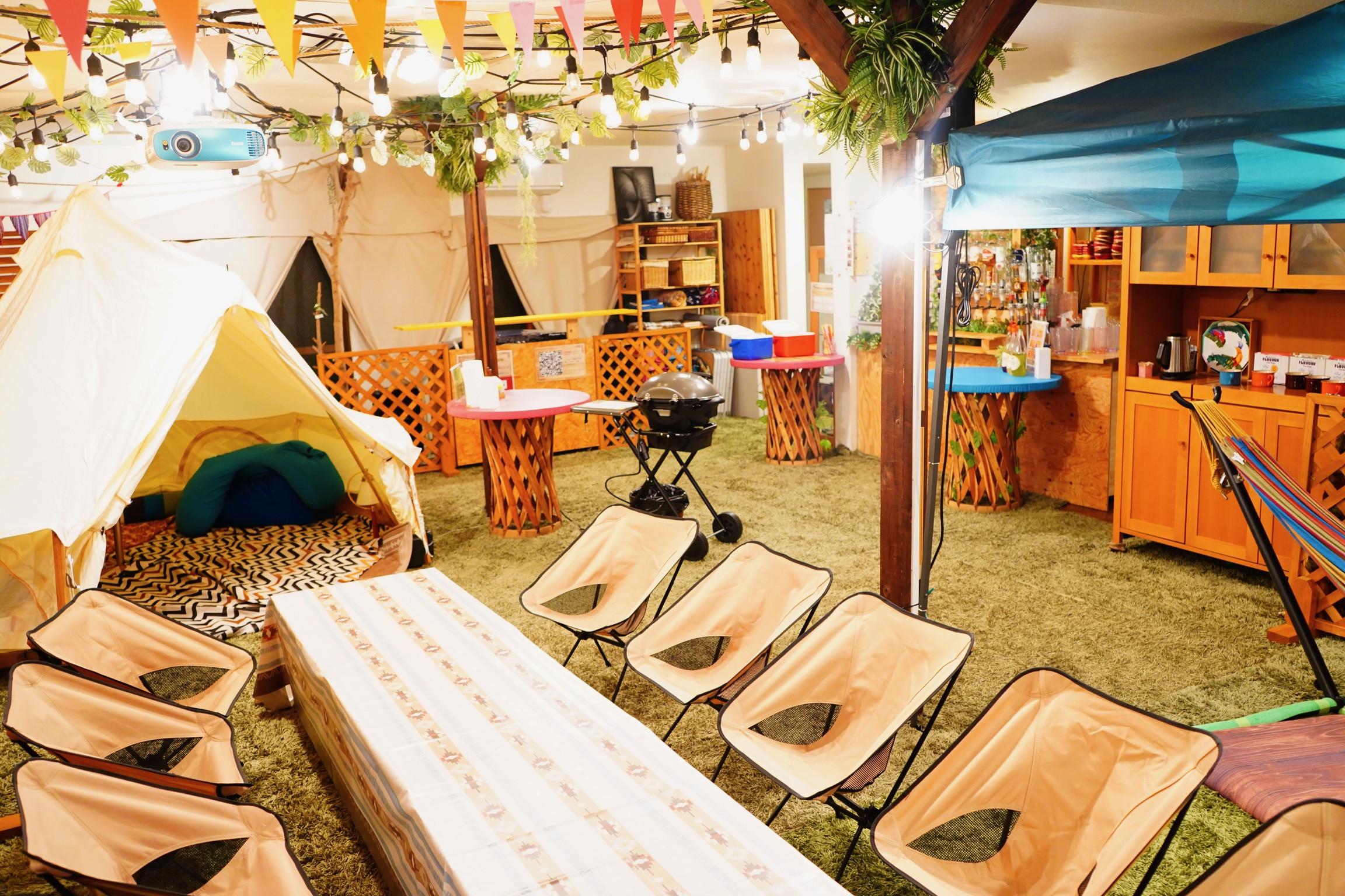全天候型‼︎室内快適BBQ&貸切キャンピングテントcafe SUNNY GARDEN