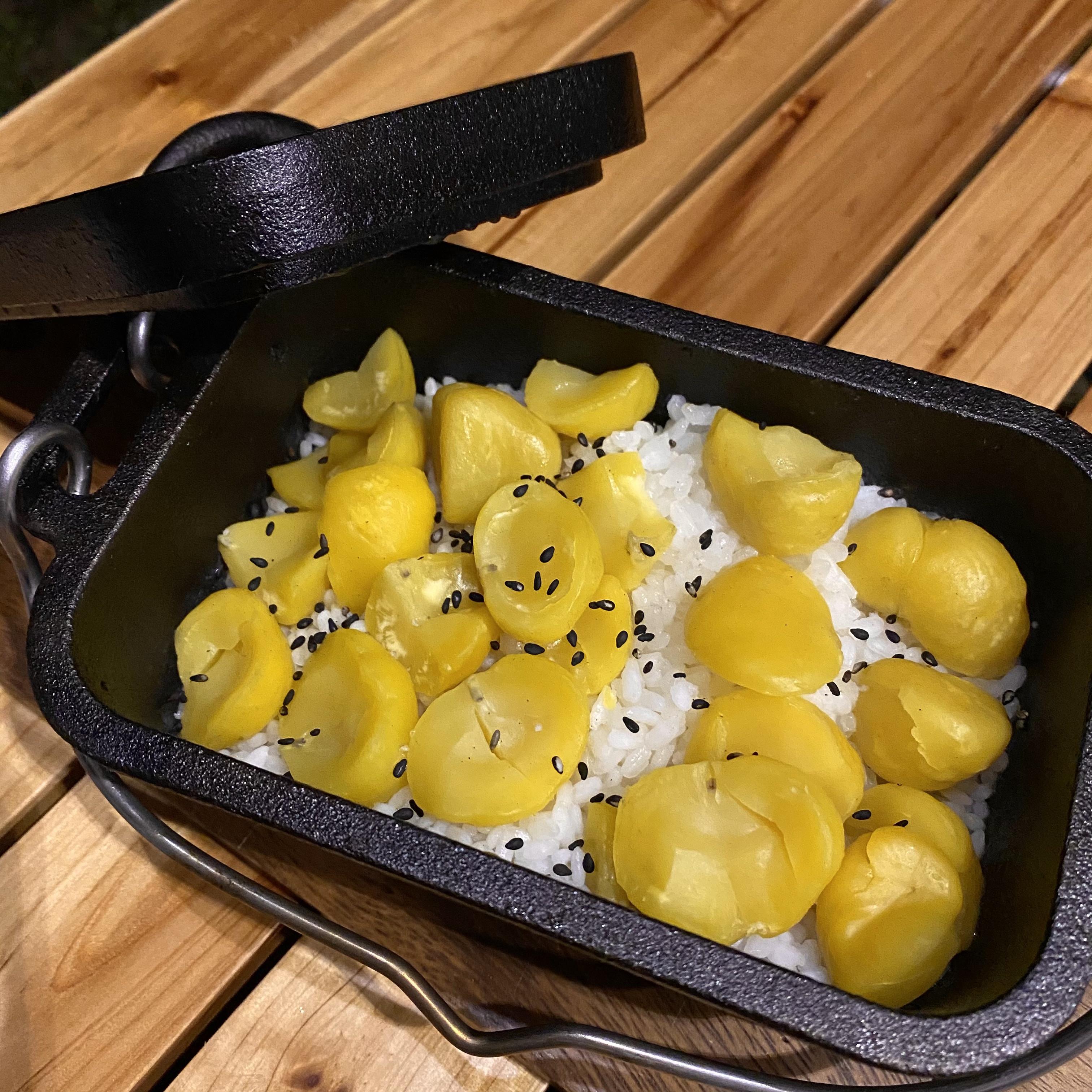 ミニダッチオーブンで作るほったらかし『栗ご飯』!