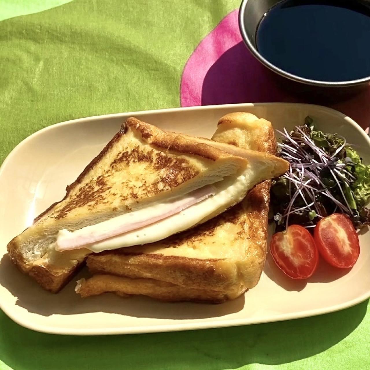チーズがとろける朝ごはん「クロックムッシュ」